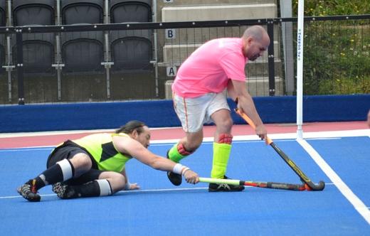 Liam's now famous sliding tackle!