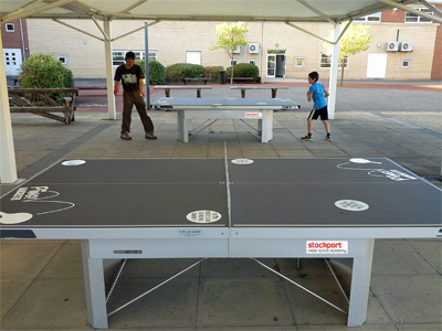 Cheadle College Caopy table tennis