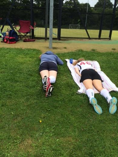 Okehampton Tournament 2016 (pre-season) - Relaxing between matches...