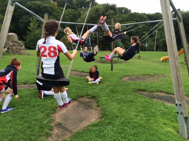 Okehampton Tournament 2016 (pre-season) - Younger members of the squal relaxing between matches!
