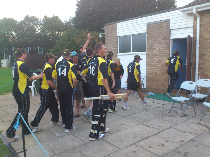 Victory: PTCC Midlands t20 winning celebrations