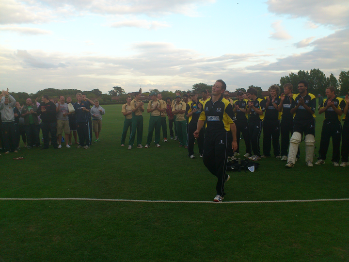 PTCC Midlands t20 winning celebrations: Paul McMahon collects his MoM award