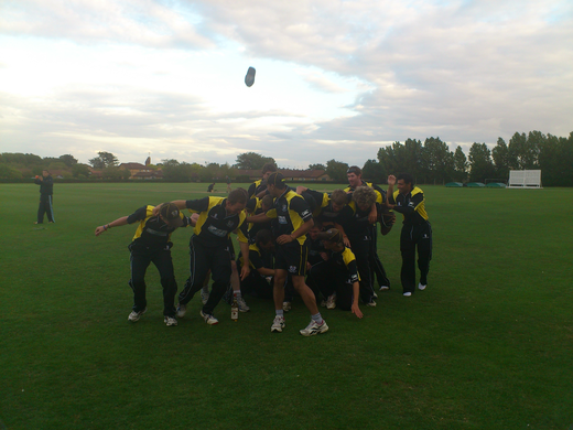 PTCC Midlands t20 winning celebrations