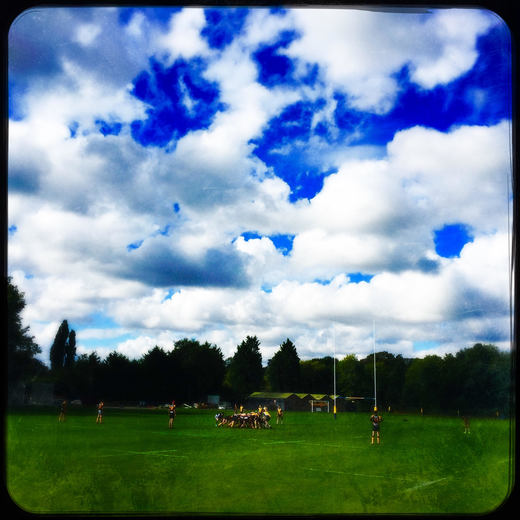 U14s play Letchworth under a dramatic sky, 9 October 2016