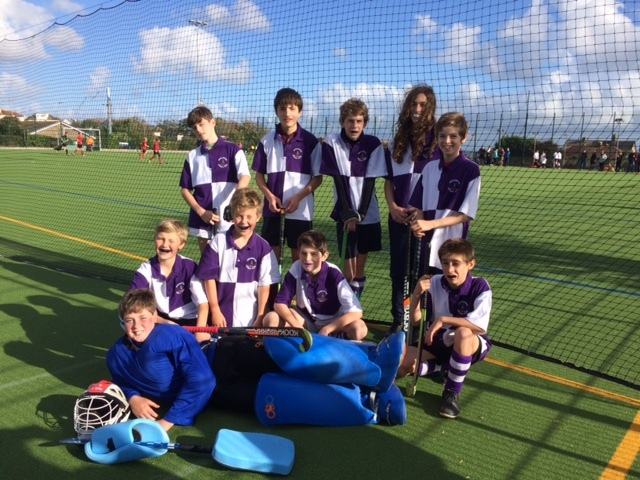 Our first ever Boys U14 team - playing in the Devon Tournament with the boys from Okehampton