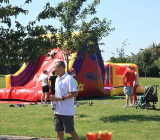 Inflatable at the fun day