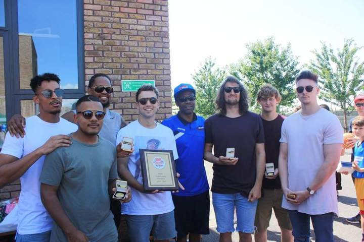 Mens national league team getting their awards