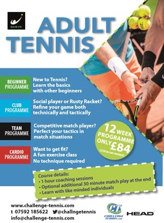 Adult Tennis Front Page