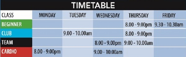 Adult Time Table
