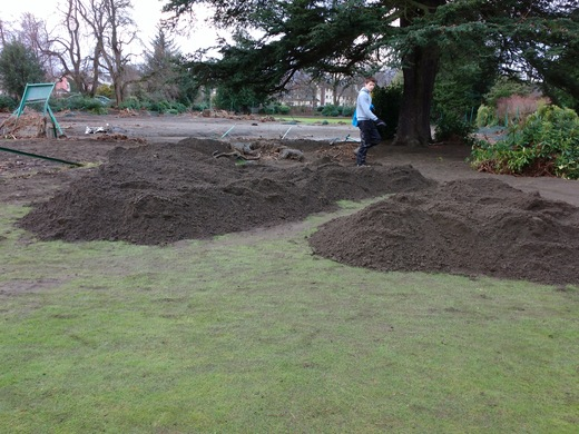 piling the silt off the courts