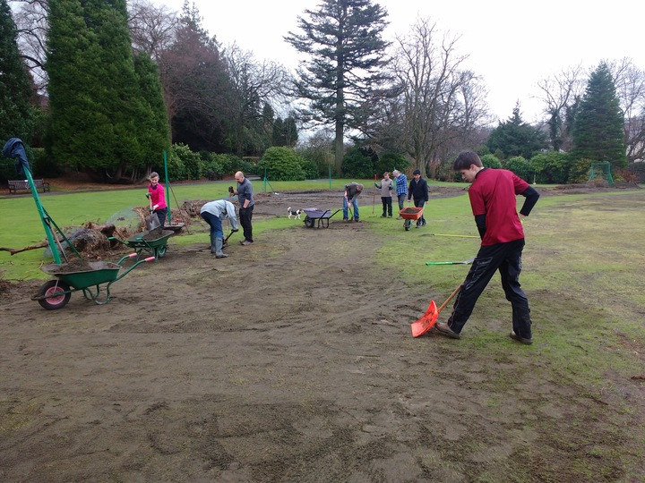 clearing the grass courts of silt