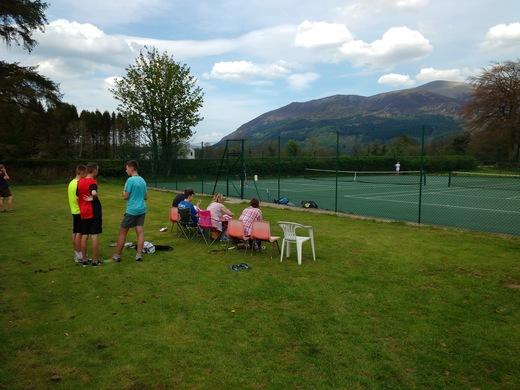 Junior match spectators!