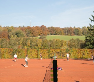 Clay courts in the autumn