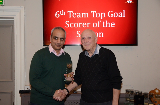 6th Team Top Goal Scorer - Ricky Lally (collected by Kram)