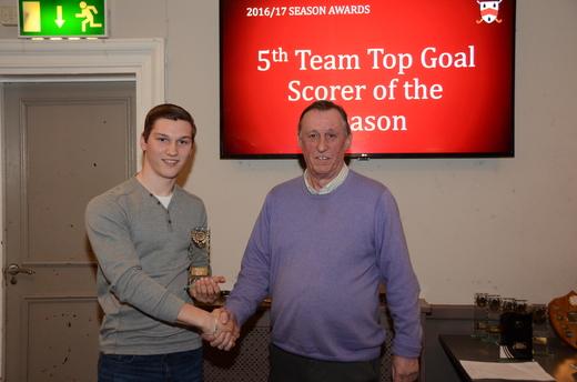 5th Team Top Goal Scorer - James Fisher