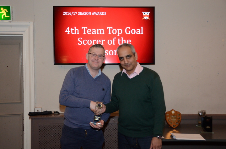 4th Team Top Goal Scorer - Gary O'Sullivan