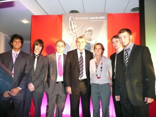 YPC with Peter Shilton, Energize Awards 2010