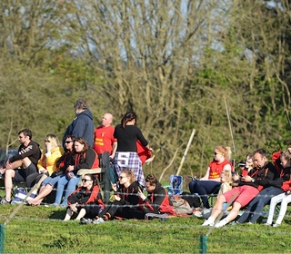 Caradon travelling supporters settle down for the Plate match