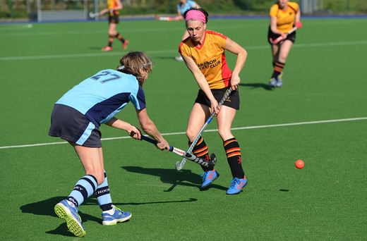 EJ Mullis slips the ball past the Penzance defender as she took control of the midfield.