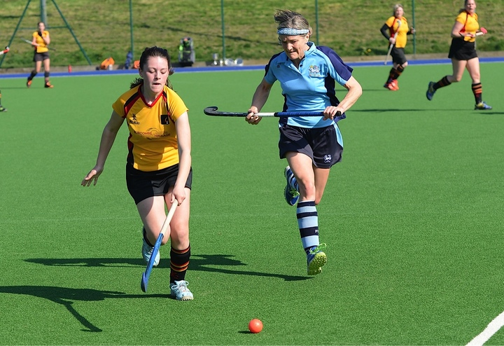 Winger Sadie Mullis shows why she represents Cornwall under 14s, flying past the Penzance midfield