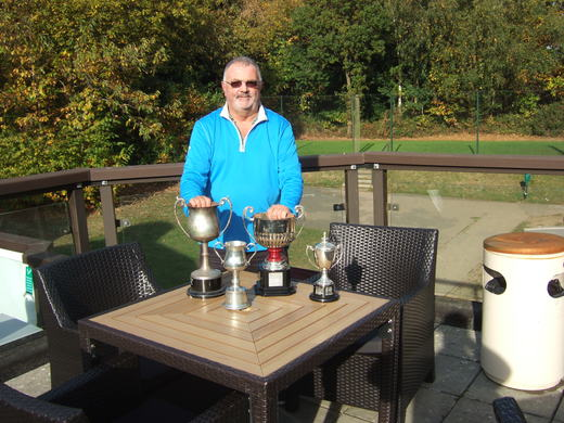 Geoff Cox winner of the Etherington Cup, Keylock Cup, Tiger Cup & Winners Cup 2016