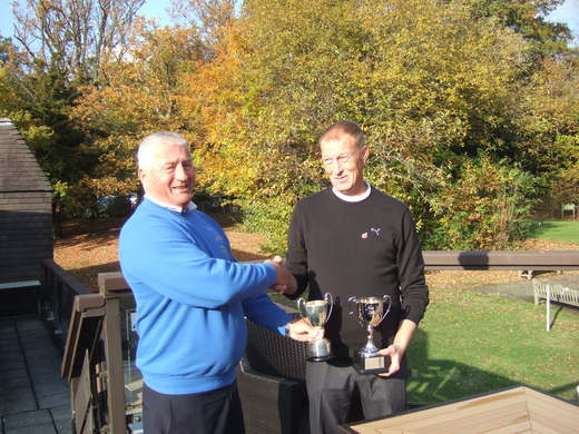 David Sparks winner of the Simmons Trophy & Jack Clough Cup 2016 presented by Mike Severs