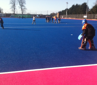 First time on the Olympic  pitch and shooting practice in order.