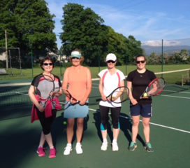 Ladies 2 match on 30/05/2017: Fran, Ali, Cathy, Eve