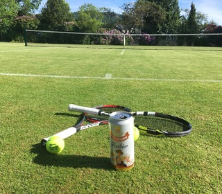Friday nights playing tennis!