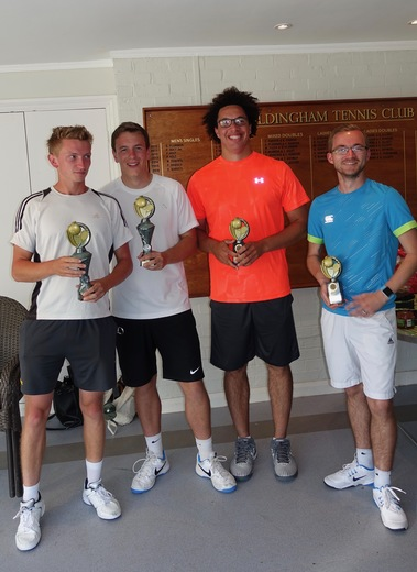 Mens Doubles Winners (on the left)