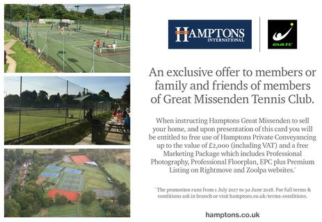 Hampton's Members Offer July 2017