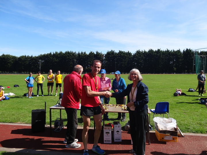 Roy Reeder, M50 bronze in Surrey County 5K