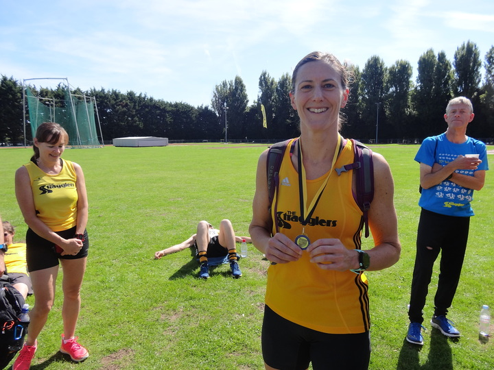 Sarah Winter 2nd F35 in Surrey County 5K