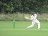 Harry employing the full swing of the bat