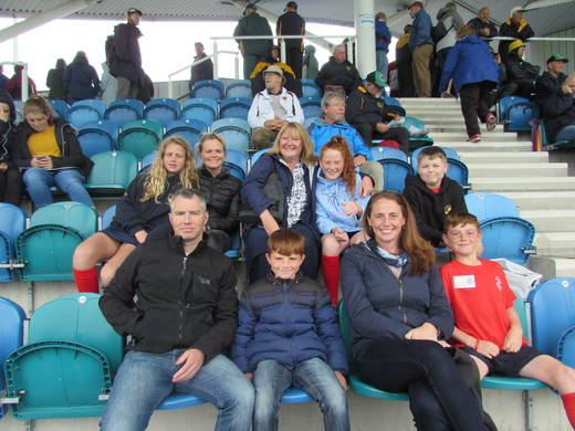The families waiting in the Stand