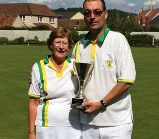 Mary Green winners: Val Harding and Clive Shipway