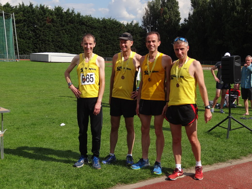 Malcom, Dean, Roy, Jim with their county medals