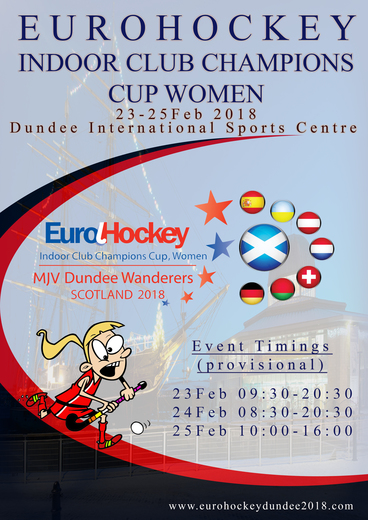 Eurohockey 2018 Poster
