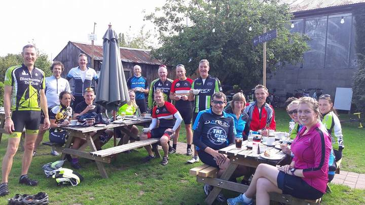 Social ride with cake Aug 2017