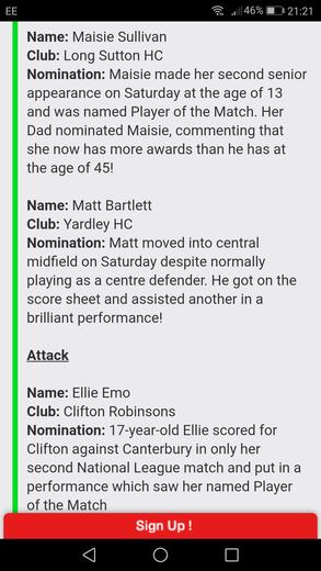 Matt's Nomination