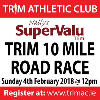 Trim 10 mile sign