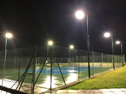 Court 8 new floodlights