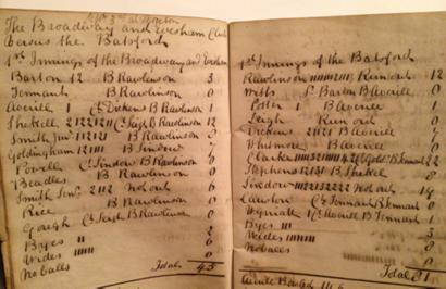 Scorecard from 1832