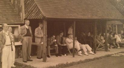 Original thatched pavilion