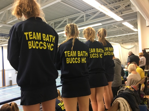 Bath U18 Girls watching the action