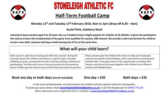 Football Camp Details