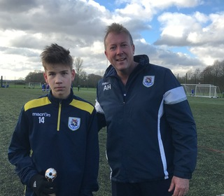U14 Panthers man of the match against Oakwood Youth Rangers