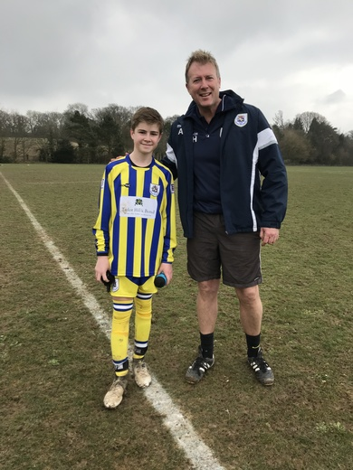 U14 Panthers man of the match against Stoneham Panthers