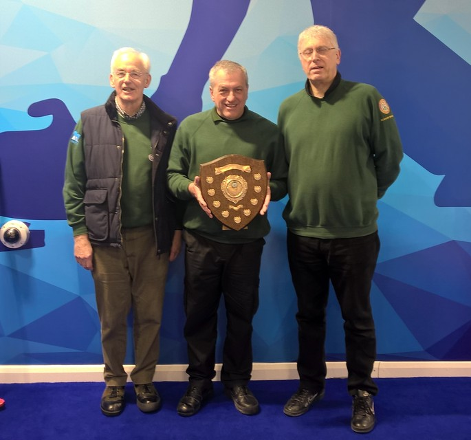 Doune Sheild winning team 2018 + Alan (taking photo)