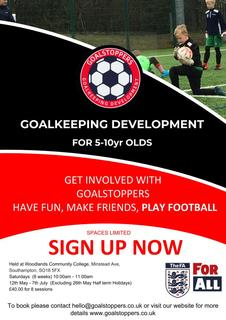 Goalstoppers Goalkeeping Course Dates